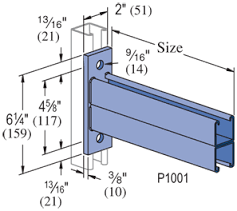 Reversible Double Channel Bracket HDG